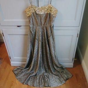 Vintage 70s Lilli Diamond Metallic Sequin Dress
